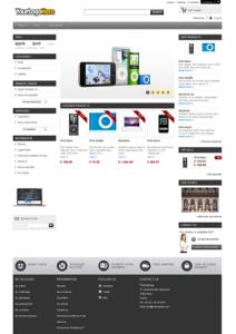 widok zrzutu ekranu PrestaShop 1.5 frontpage