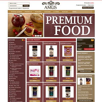 Amus - sklep spożywczy premium