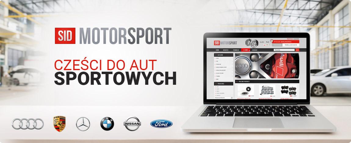 Prezentacja sklepu SidMotorSport zajmującego się sprzedażą części do aut sportowych.