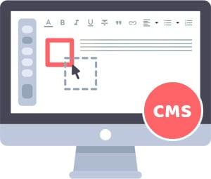Za pomocą zaplecza CMS można wygodnie edytować treści, podobnie jak w standardowych edytorach tekstu typu Word.